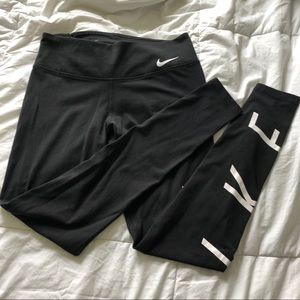 NikeDri fit leggings. Black